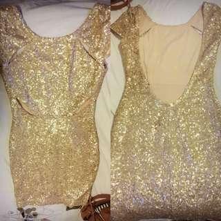 Abyss Gold Dress