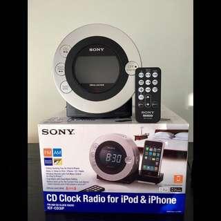 SONY CD clock Radio