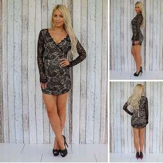 Black Lace Bodycon Dress
