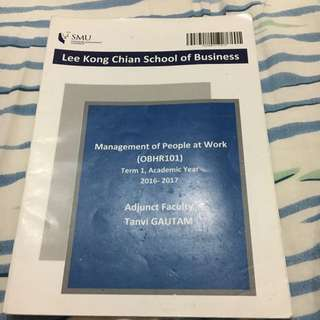 Management Of People At Work Case Study Booklet