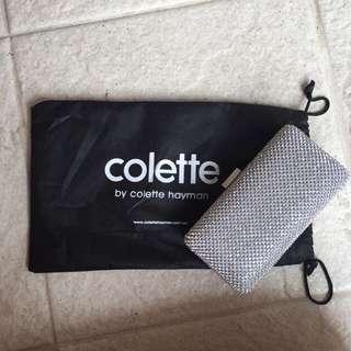 "Colette Silver Clutch ""Carissa Sparkle Hardcase"""