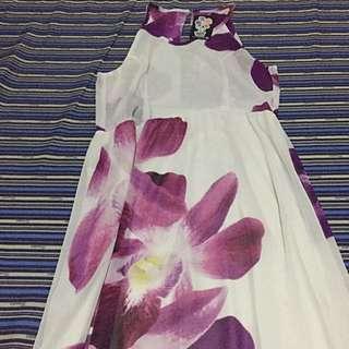 Long Floral Beach Dress