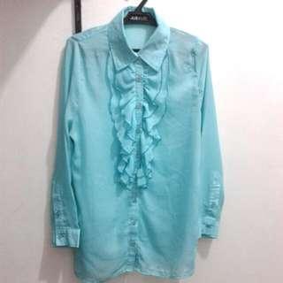 Bluegreen Sheer Top