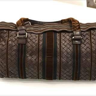 AUTHENTIC BOTTEGA VENETA LEATHER & SUEDE BAG.