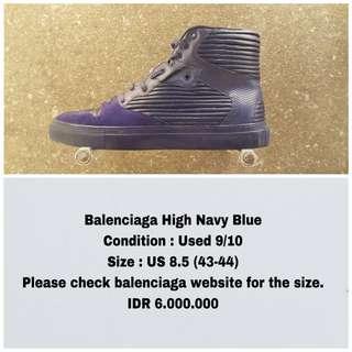 Balenciaga High Navy Blue