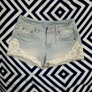 Brukat Jeans Hotpants