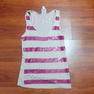 Mango Sleeveless Shirt (pink)