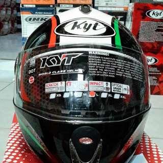 Helm Kyt X Rocket Retro White Green Fullface Murah