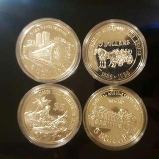 SG 5 dollar Silver Coins