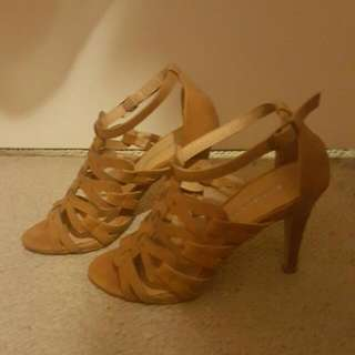 Size 5 Brown Strappy Heels