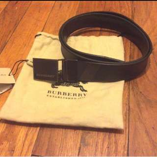 Burberry Men's Smoke Check Reversible Leather Belt Waist 30 Brand New!