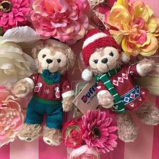 達菲熊 聖誕節特別版 雪莉玫 迪士尼 限量商品
