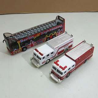 (Pre-Loved) Lot of 1:87 Diecast Bus and Trucks