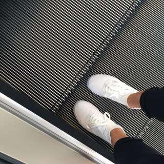 vans inspired white shoes