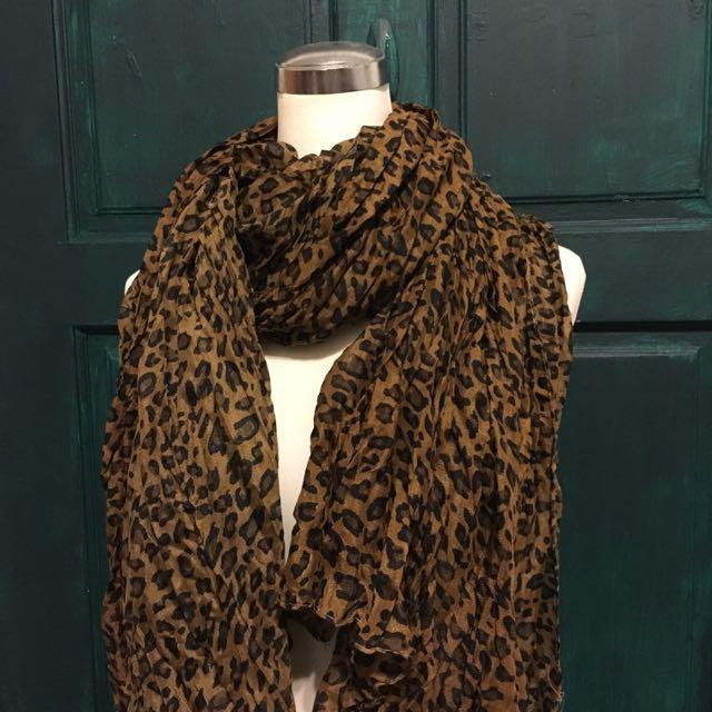 豹紋圍巾 含運
