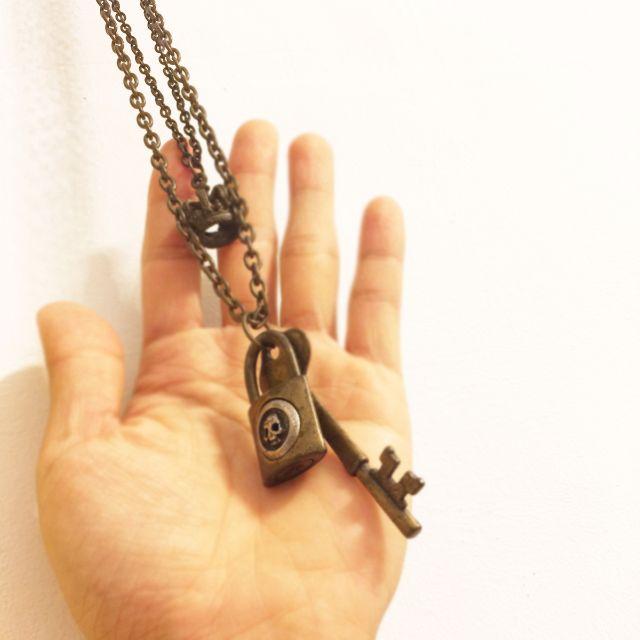 骷顱頭/皇冠/鑰匙 銅項鍊