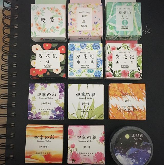 🌸(現貨)日式和紙膠帶 四季之彩 碎花紀🌸