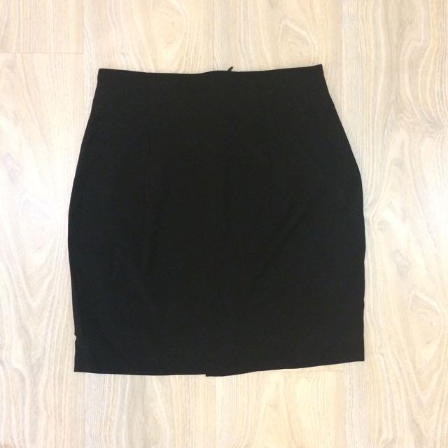 🆕 Basic A-Line Skirt - Black