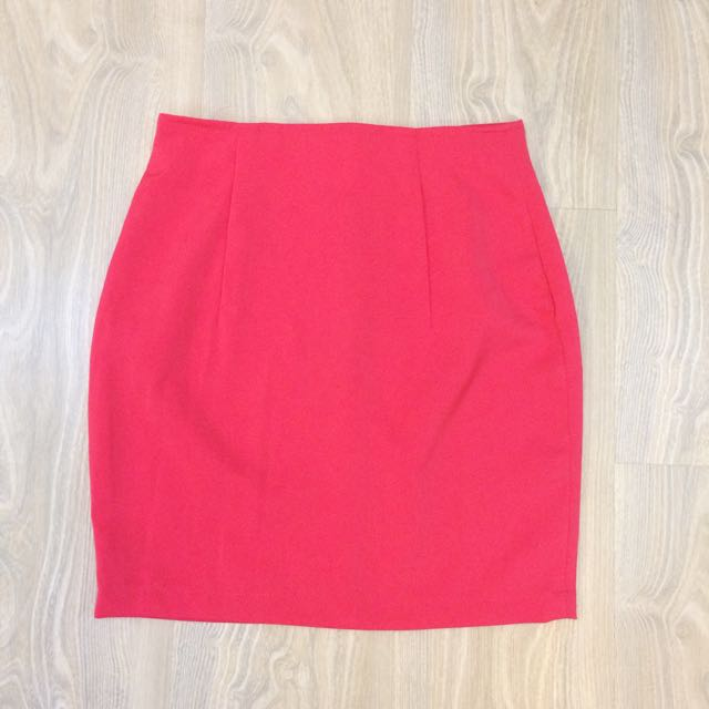 🆕 Basic A-Line Skirt - Coral Pink