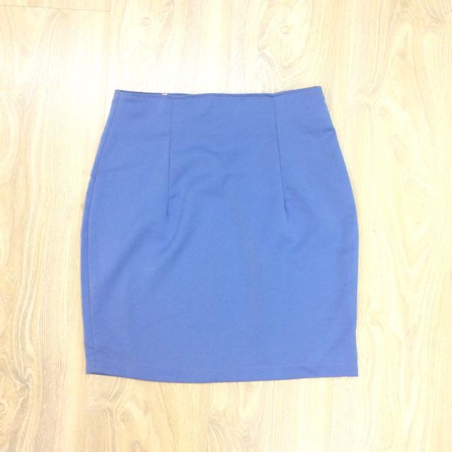 🆕 Basic A-Line Skirt - Indigo