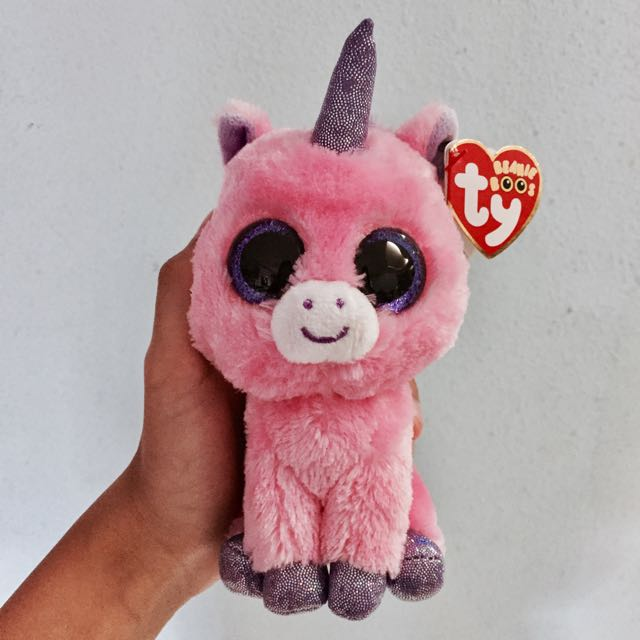 Authentic Ty Beanie Boo s pink unicorn stuffed toy from PreciousThots a60f9df2c976