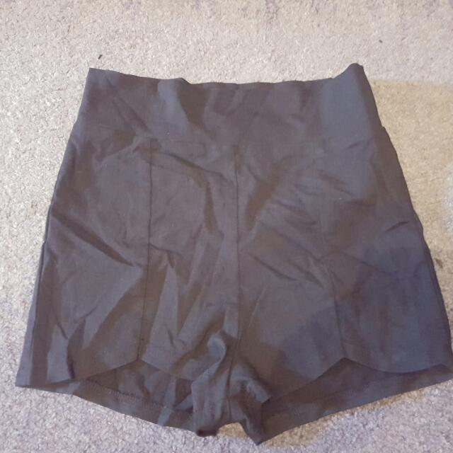 Black High Waist Shorts Size 8