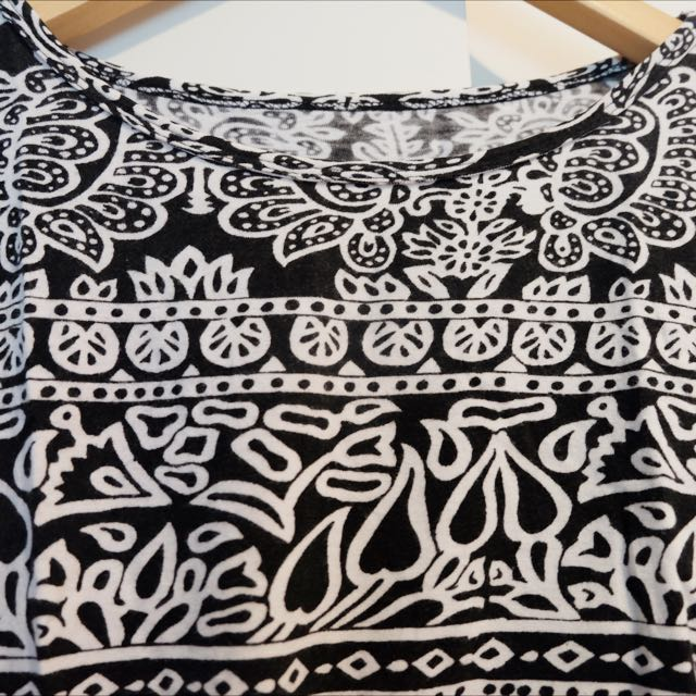 Black Tribal Top