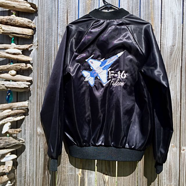 Black Vintage Bomber Jacket