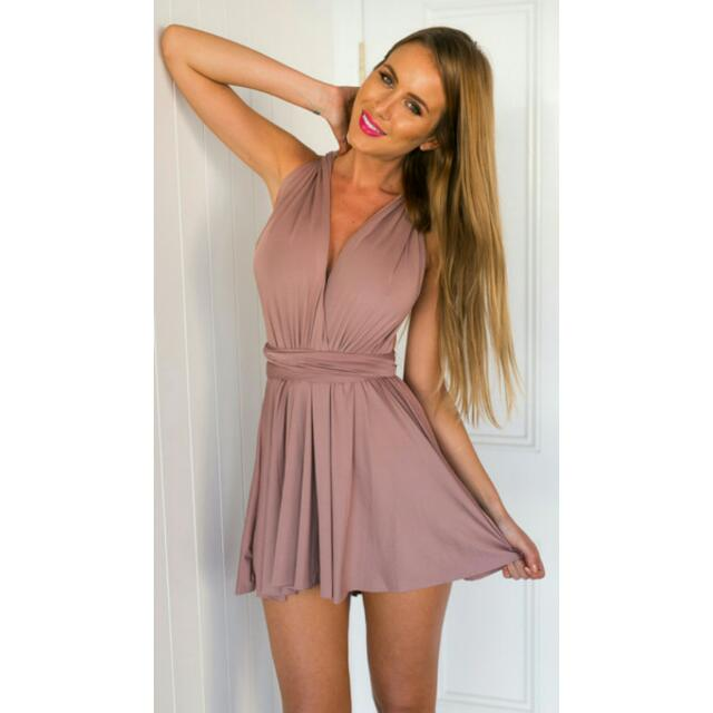 Blush Multiway Skater Dress