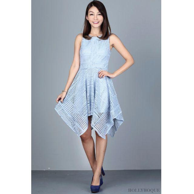 BNWT Hollyhoque Estel Crochet Dress Baby Blue