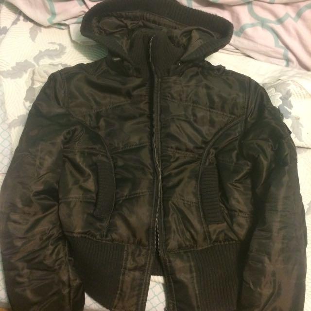 Brown Crop Jacket S