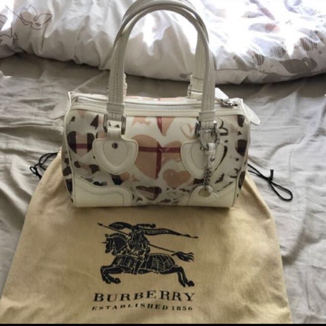 Burberry Supernova Heart Check Bowling Bag
