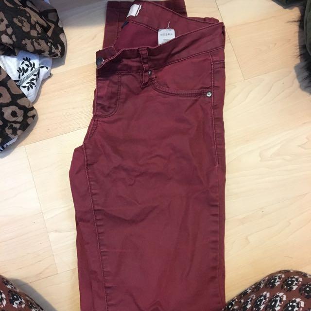 Burgundy Garage Jeans