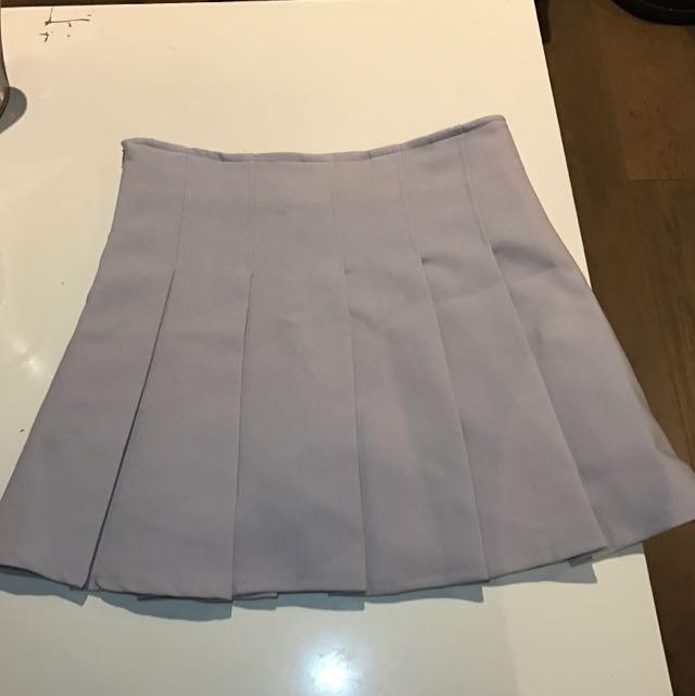 Chuu (Korean) Mini Skirt / Tennis Skirt (grey)