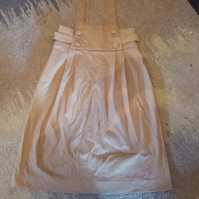 Cue Grey High Waist Corporate Work Skirt Size 6