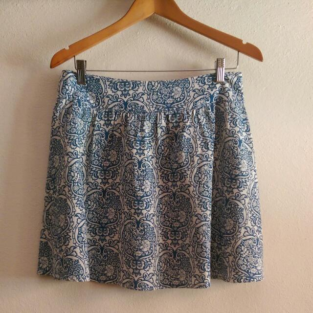 Cute Summer Skirt - Blue and white pattern Sz12 #2016regrets