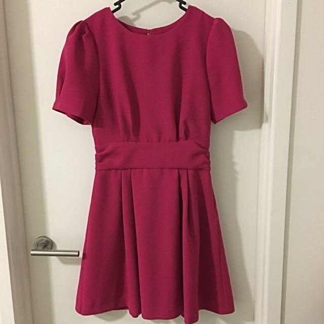 Deicy Short Purple Red Dress