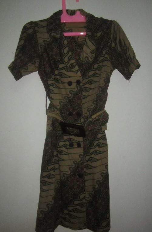 Dress Batik Hijau Bagus