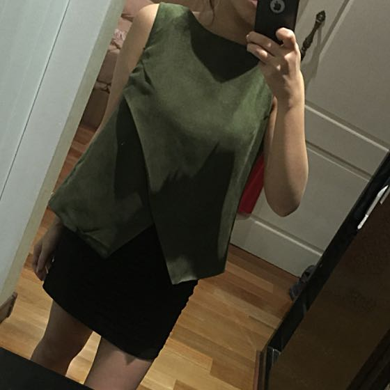 Executive Green Suede Shirt