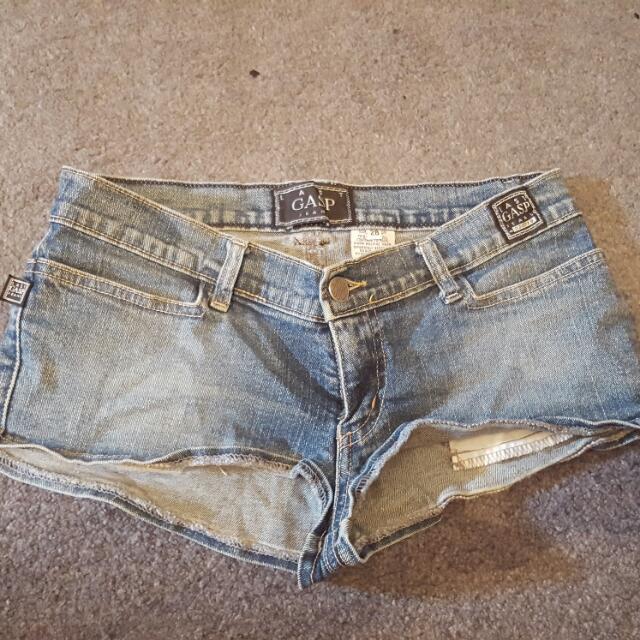 Gasp Jeans Hotpants Shorts Size 28 (8-10)