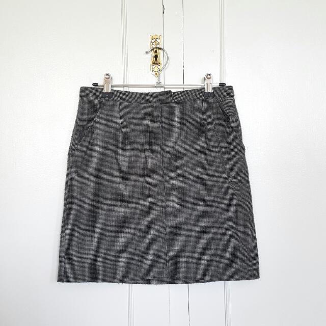 Grey Woolen Skirt