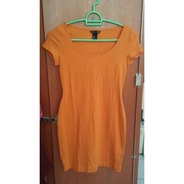 H&M Orange Dress