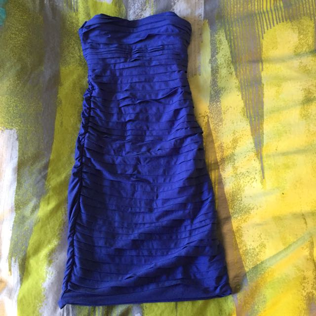 Kookai Blue Strapless Dress - $40