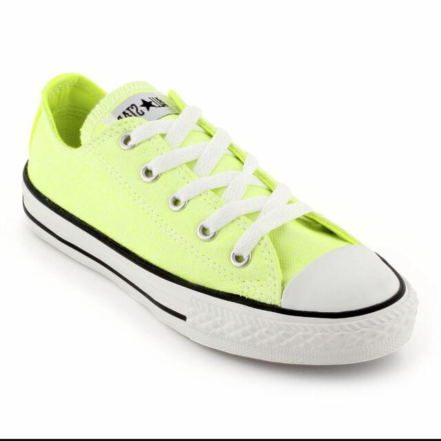 eb0a8667a7d8 Light purple   neon yellow converse shoe