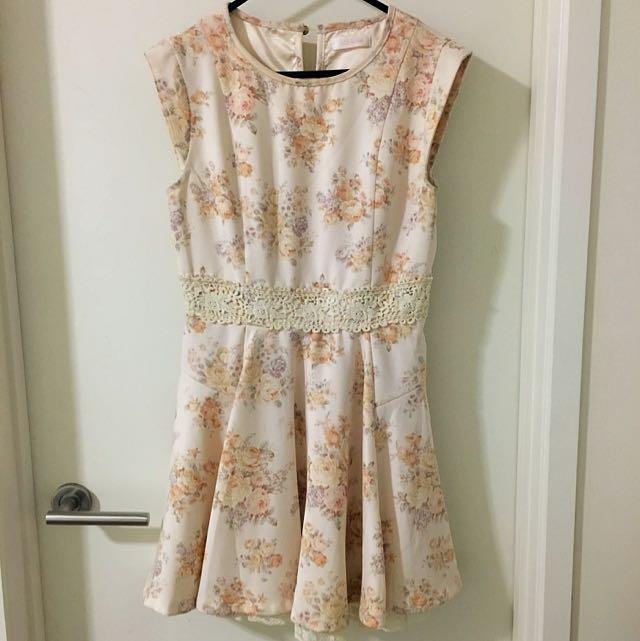 Liz Lisa Floral Print Short Dress