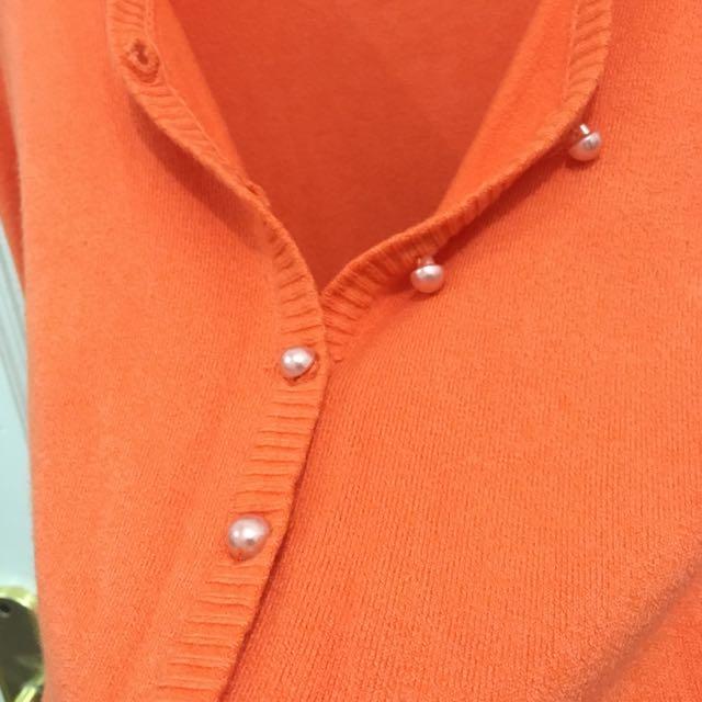 Orange Knitted Cardi