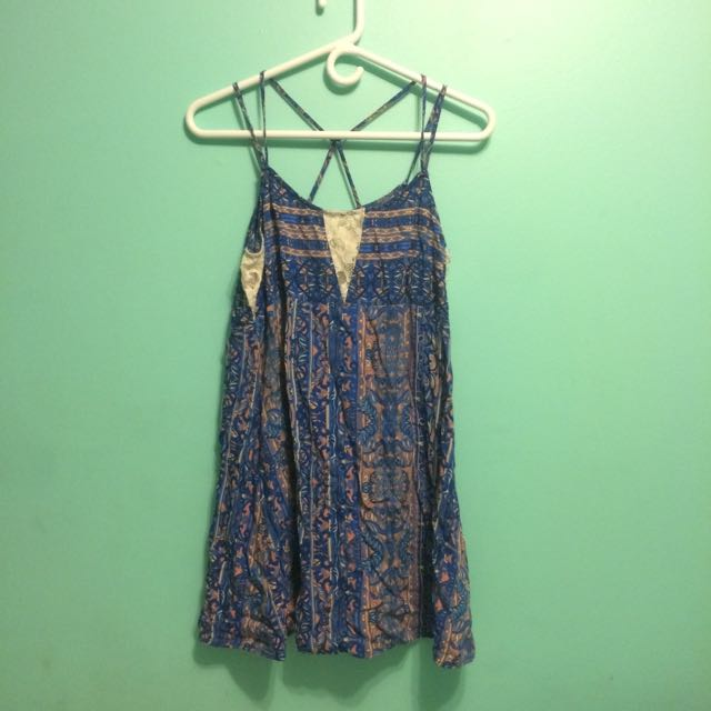 Printed Dress Size L Forever 21
