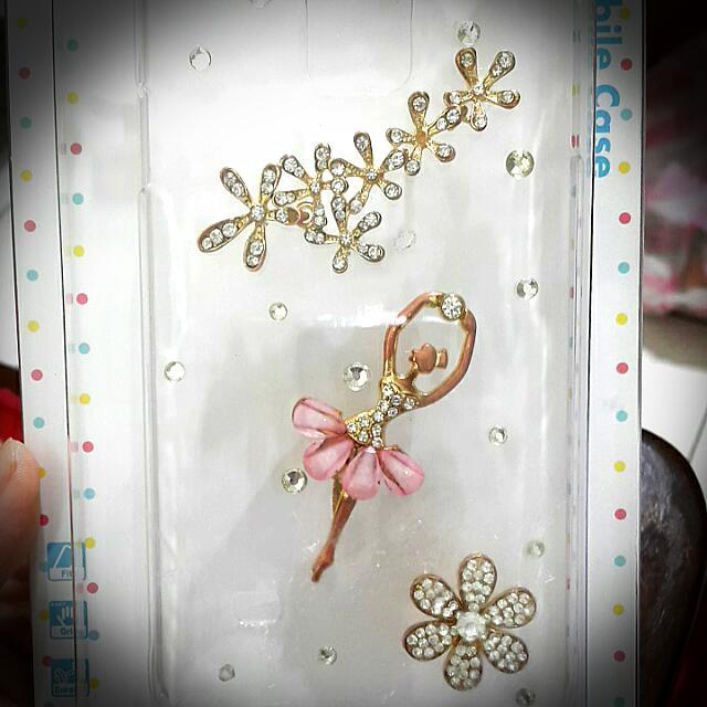 手工訂製款-古典浪漫粉紅色芭蕾舞女孩水鑽手機殼SAMSUNG Galaxy Note4 軟殼 透明殼 皮套 玫瑰金色