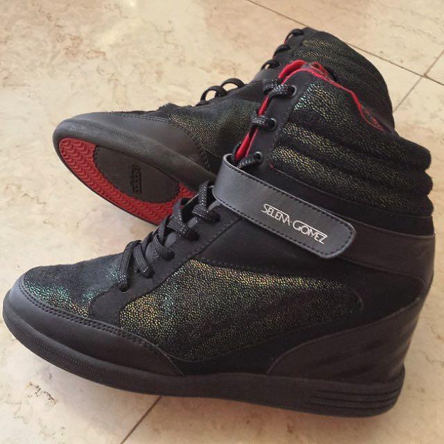 3d3dad7cd Selena Gomez Adidas Neo High Wedges Sneakers Heels Super, Women's ...