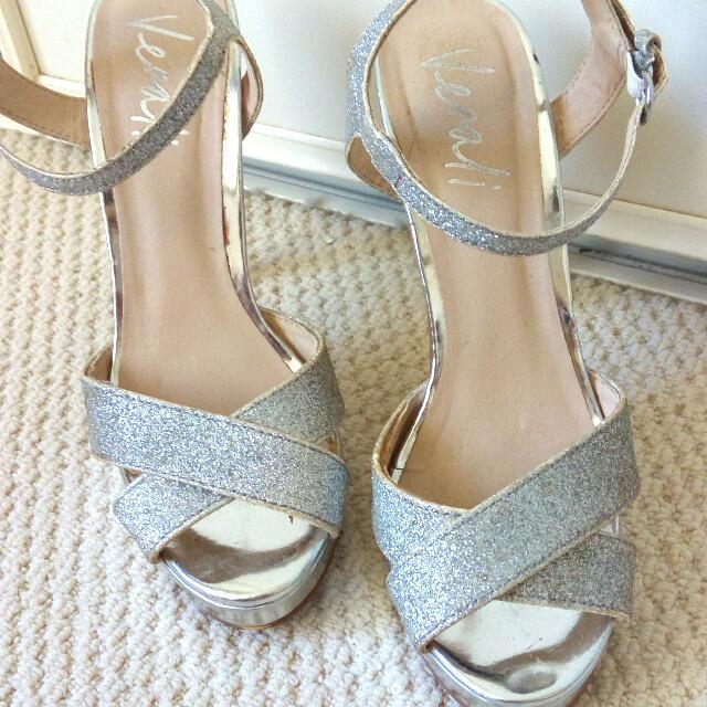 Silver Heels Size 5-6